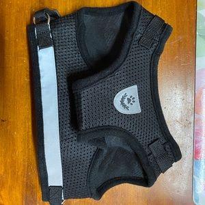 Black mesh cat harness size XL